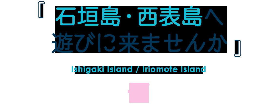 石垣島・西表島へ遊びに来ませんか